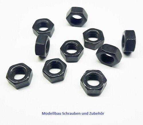 25 Stück Zylinderkopfschraube M5x12mm hochfest 10.9 mit Muttern und U-Scheiben