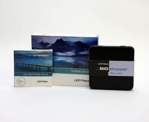 Lee Tapón /& Lee de 77 mm de ancho Big Anillo Kit de Filtros Foundation titular Lee nuevo