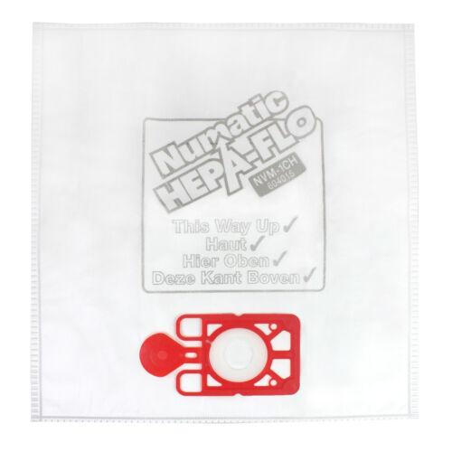 "10 Henry Hoover Bags Main Cloth Filter 12/"" Hepa Flo Numatic Hetty James Vacuum"