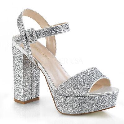 High Heels Silver Glitter