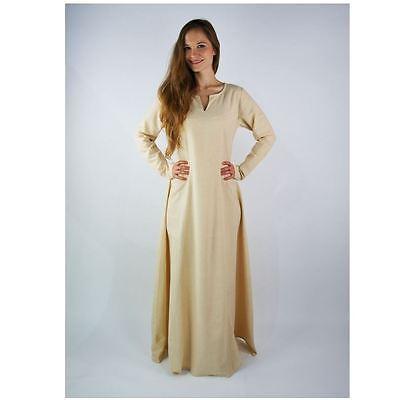 Mittelalter Reenactment Larp Gewandung Unterkleid geschlitzt  Kleid Maid
