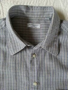 POGGIANTI-Button-Front-Shirt-Men-039-s-Tag-Size-L-True-Men-039-s-Sz-M-Hand-Made-Italy
