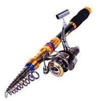 Saltwater Freshwater Telescopic Fishing Rod With Reel Combos Fishing Pole Sets