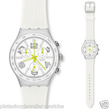 Swatch Watch YCS4051 White Ray Of Light  Rubber Gift New Original