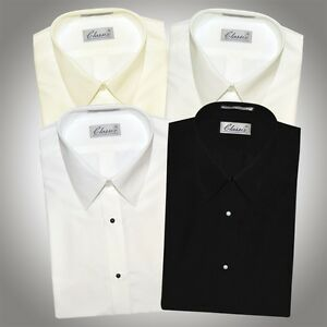 Microfiber Tuxedo Formal Dress Shirt Diamond White, Ivory, Off ...