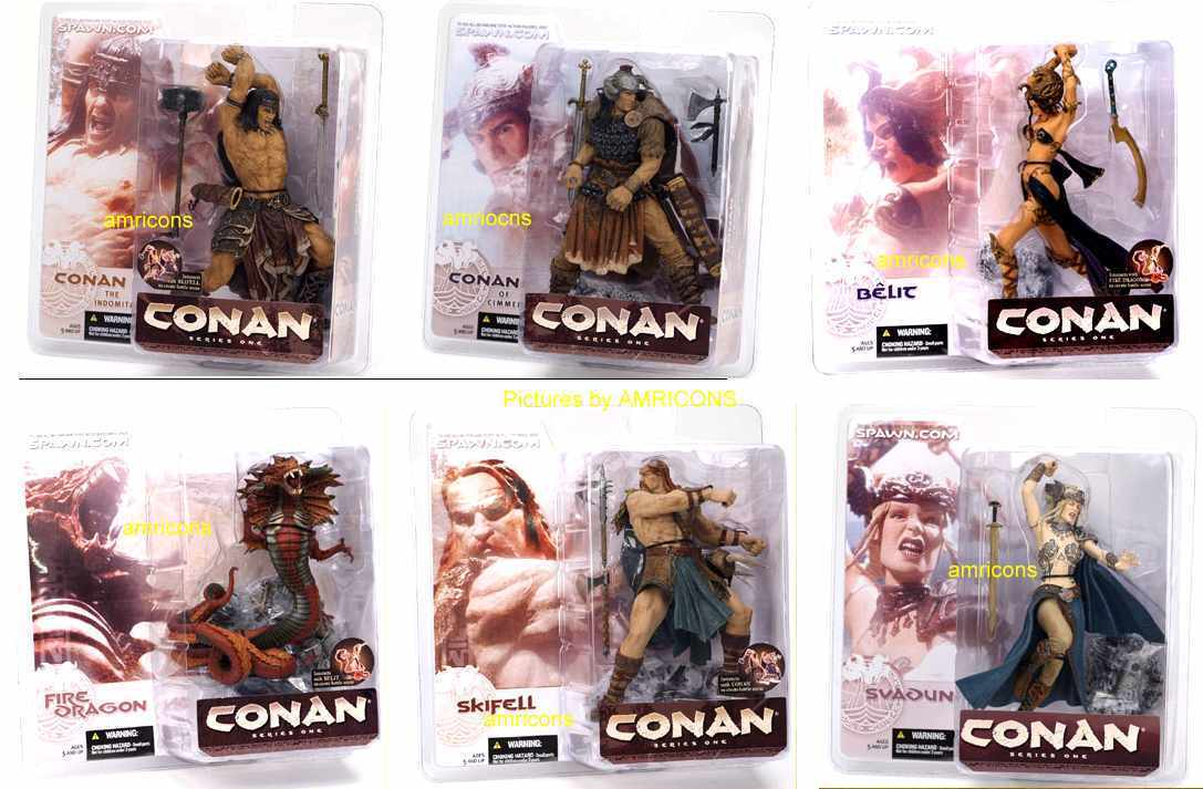 McFarlane Toys CONAN Series 1 Action Figure Set R Rated NEUF