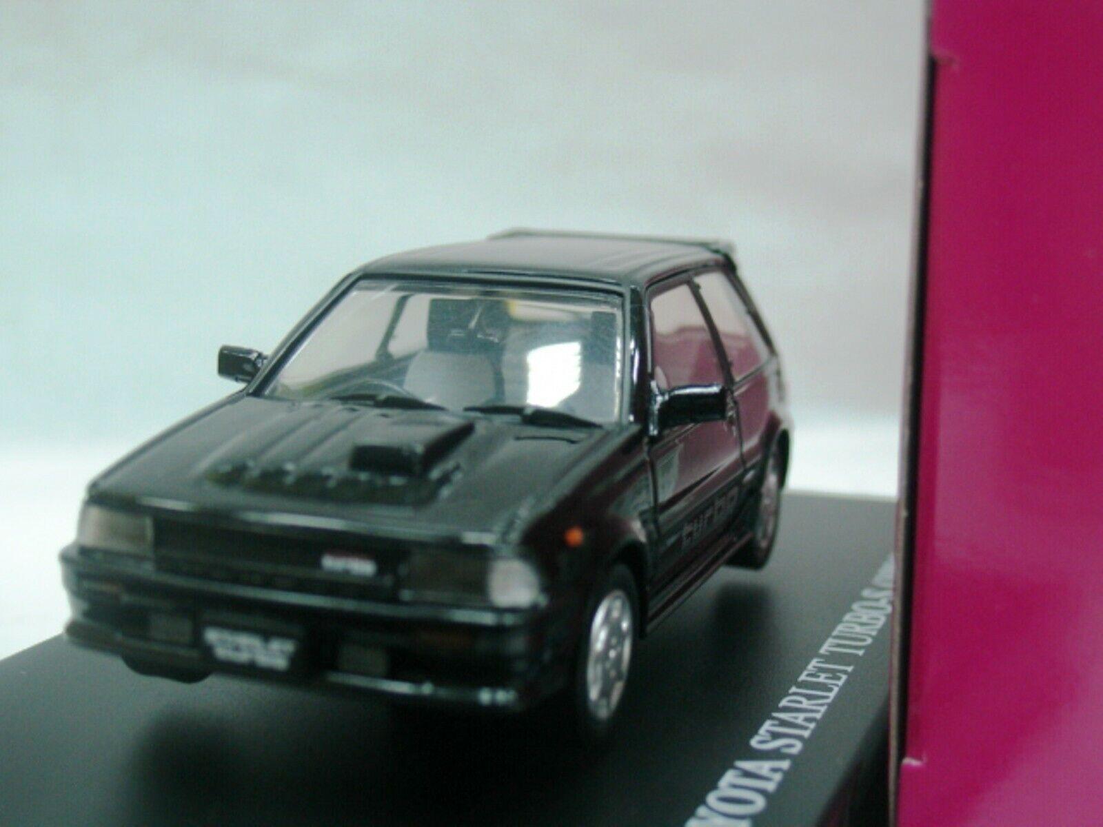 Wow extremadonnate raro Toyota Starlet Turbo-S EP71 RHD nero 1 43 Aoshima-DISM