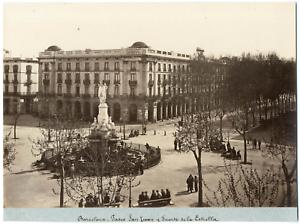 Espagne-Barcelona-Fuente-de-la-Estrella-Vintage-albumen-print-Tirage-albumi