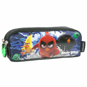 Angry-Birds-MOVIE-Double-Pencil-Pouch-School-Popular-Black-Blue-Boys