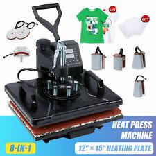 12x15 Heat Press Machine 8 In 1 Heat Pad 1250w 360 Swivel Multifunction T Shirt