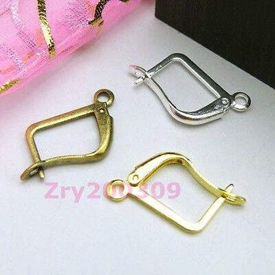 24Pcs Ear Wire Earring Hook DIY Findings,Silver,Gold,Bronze R0073