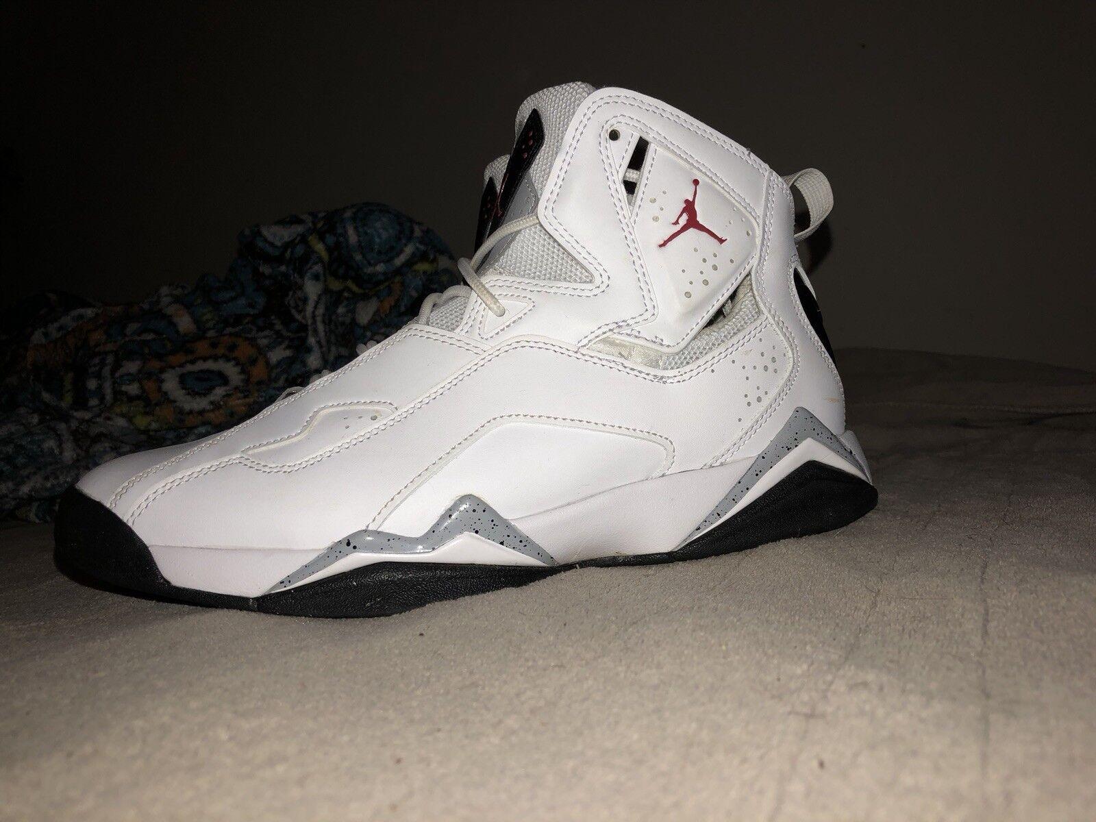 Jordania cierto vuelo Hombre Negro blanco / gimnasio Rojo Negro Hombre Gris lobo 342964-104 modelo mas vendido de la marca de zapatos f70f11