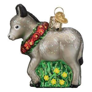Old World Christmas DONKITA Donkey (12593)N Glass Ornament w/OWC Box