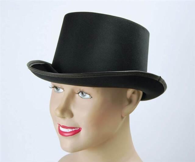 Top Hat. Black, Satin Look. Fancy Dress Accessory