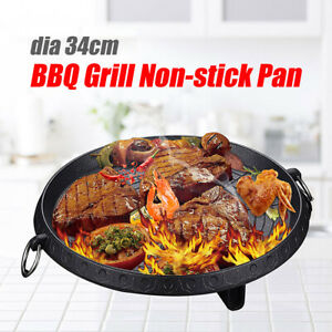 Korean-Style-Non-stick-Smokeless-Indoor-Barbecue-Pan-Grill-Stovetop-Plate-BBQ
