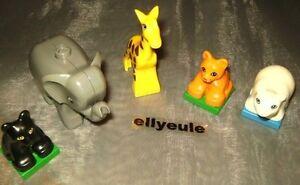 Lego Duplo 5 Animaux De Zoo Girafe Lion Ours Polaire Panther éléphant D-gris-afficher Le Titre D'origine