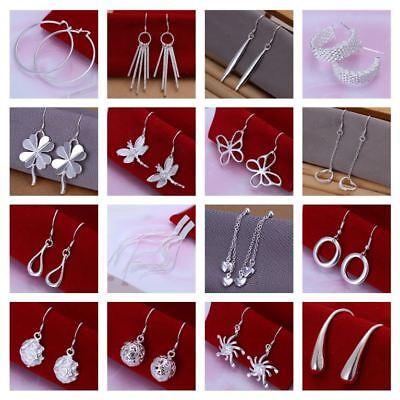 925 silver Ladies Women Dangle Star Hook earrings Free P/&P UK Seller