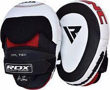 Auth RDX Leder Schlagpolster Haken & Jab Mitts Boxen MMA Kick Thai Handschuhe AT