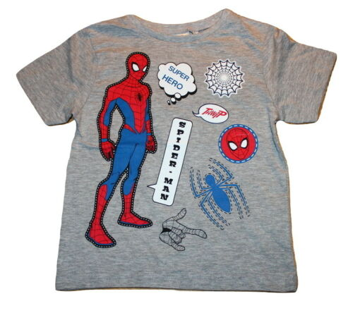 Boys Kids Spiderman T-Shirt Official Character Summer Top Tee 2-8 Years New