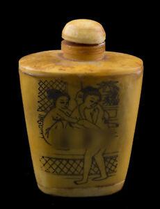 Botella-Tabaquera-frasco-Kamasutra-erotico-sexy-hueso-de-ganado-vacuno-25373-E7
