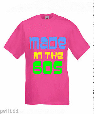 made in the 60s.LADIES normal baggy fit PINK  T SHIRT  SMALL TO 3xl