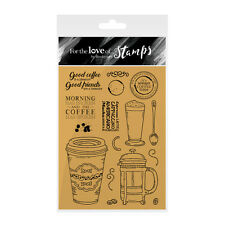 COFFEE TIME - For The Love of Stamps Clear Stamp Set - Hunkydory