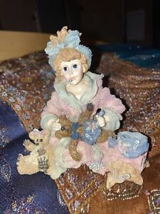 Boyds Bears Dollstone Collection Yesterdays` Child Caitlin with Emma and Baby