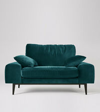 Swoon Tulum Living Room Stylish Kingfisher EasyVelvet Love Seat - RRP £799