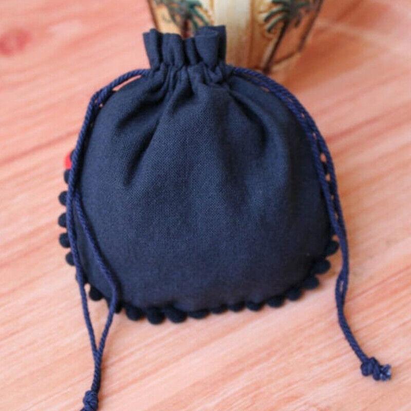 300 PCS Cotton Drawstring Blau Personalized Jewelry Packaging Bag Pouches 5x5
