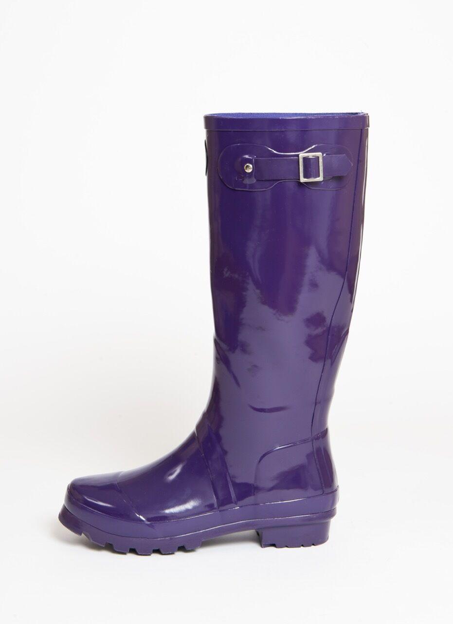 Müd Designer Slim Wellington Stiefel - Rubber - Purple Slim Designer Boot with Buckle 7e417c