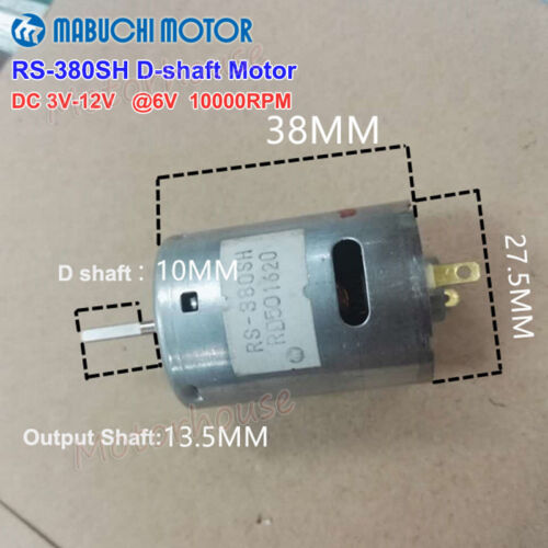MABUCHI RS-380PH-26110 RS-380SH DC 6V-12V High Speed Vacuum Cleaner Tool Motor