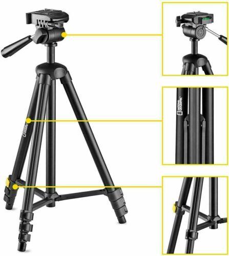 Aluminium 4-Section Legs Travel Photo Tripod S Kit National Geographic Monopod