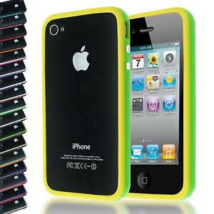 DUAL-COLOUR-BUMPER-FRAME-W-BUILT-IN-BUTTONS-SILICONE-CASE-COVER-FOR-IPHONE-4-4S