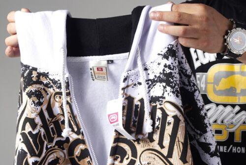 4F21 Mens Hip Hop Ecko Uultd Zip Hoodie Cotton Print Graffiti Sweater Sweatshirt