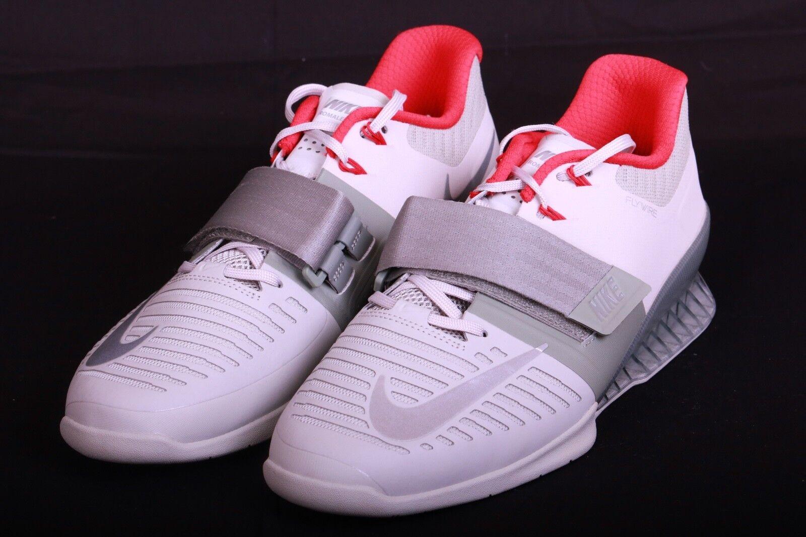 Nike Men's Romaleos 3 Dark Stucco Metallic Silver 852933 003 Size 14