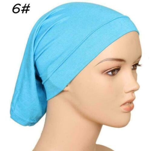 Women Muslim Pleated Turban Hat Beanie Headscarf Head Cap Wrap Hat A9E1