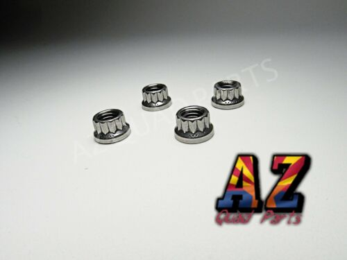 Banshee 350 Cheetah Cub ARP 12 Point Base Nuts Cylinders Cylinder Studs SILVER