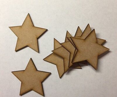 Decoupage Mdf 50mm de Madera de Forma de Estrella Artesanía Espacios en Blanco libro de visitas Corte Láser Boda