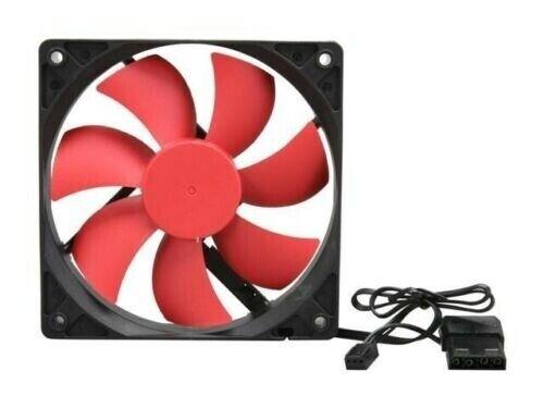 Brand NEW--LOT of (3-pcs) Xion AXP-GF120_RD 120mm Case Fan w/4-Screws (3/4 pin)