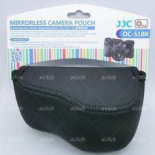 JJC OC-S1BK Black Neoprene Camera Pouch Case for Mirrorless With Pancake Lens