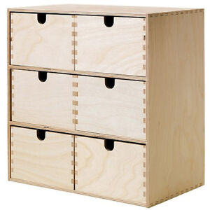 ikea moppe mini kommode holz 6 schubladen 31x18x32cm minikommode kommode ebay. Black Bedroom Furniture Sets. Home Design Ideas