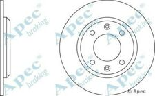 Single 1x OE Quality Replacement Front Axle Apec Solid Brake Disc 4 Stud 247mm