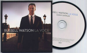RUSSELL-WATSON-La-Voce-Sampler-2010-UK-4-trk-promo-test-CD