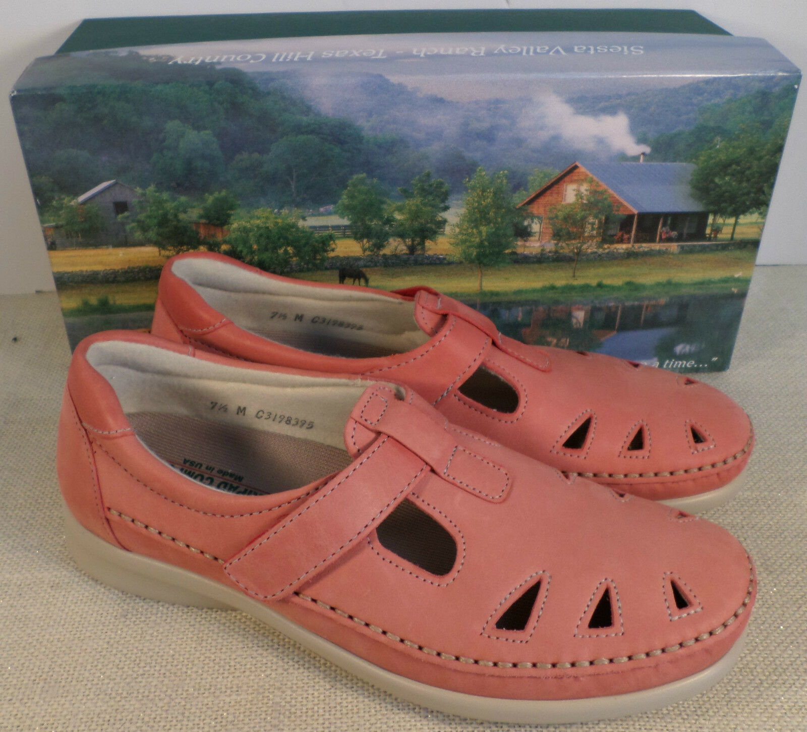 SAS ROAMER CORAL CORAL CORAL WOMEN'S PINK CORAL LEATHER LOAFER SHOES NEW IN BOX d9bc4e