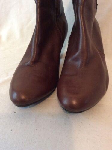 cuero 5d Clarks 6 tobillo tamaño marrón de Botas vfBw5qv