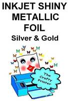 Inkjet Foil Metallic Decal/label Paper - 10 Sheets (5 Silver & 5 Gold)