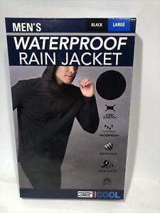 Men's Weatherproof 32 Degrees Cool Full Zip Hooded Rain Jacket SZ:M,L,XL,XXL New