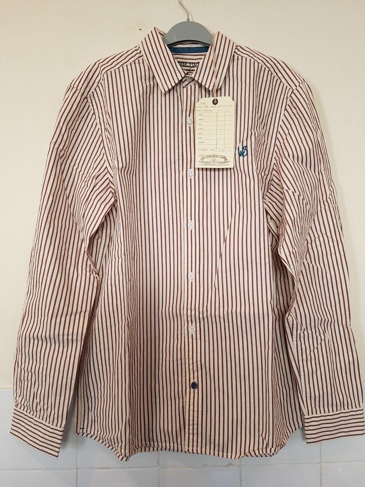 White Stuff Heartland Stripe LS Shirt S