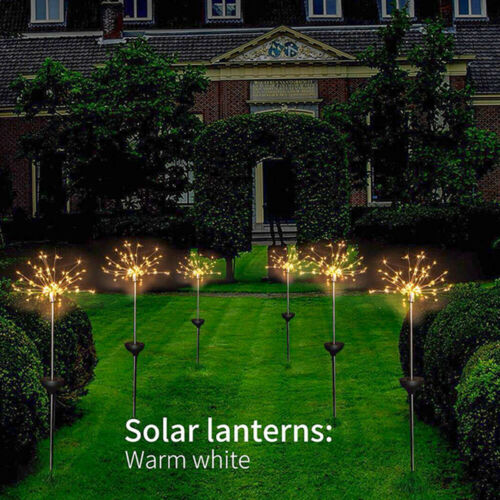 4PCS Solar Firework Starburst Fairy Lights Stake Outdoor Garden Path Lawn Lamp