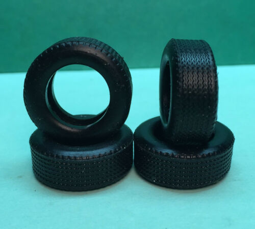 Set of 4 Tires for Monogram 1:32 Scale Classic NASCAR, BWA Wheels and others
